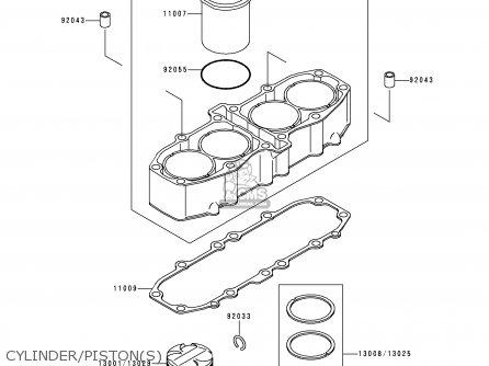 Kawasaki Zx600e4 Zzr600 1996 Europe Uk Fr Nl Fg Sp Cylinder pistons