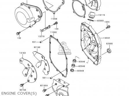 Kawasaki Zx600e4 Zzr600 1996 Europe Uk Fr Nl Fg Sp Engine Covers