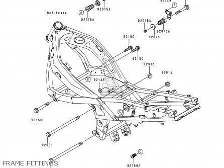 Kawasaki Zx600e4 Zzr600 1996 Europe Uk Fr Nl Fg Sp Frame Fittings