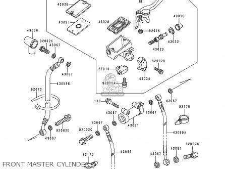 Kawasaki Zx600e4 Zzr600 1996 Europe Uk Fr Nl Fg Sp Front Master Cylinder