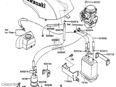 Kawasaki Zx750-a3 Gpz750 1985 Usa California Canada Canister