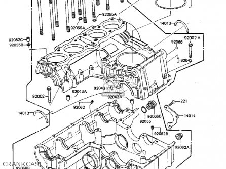 Kawasaki Zx750-a3 Gpz750 1985 Usa California Canada Crankcase