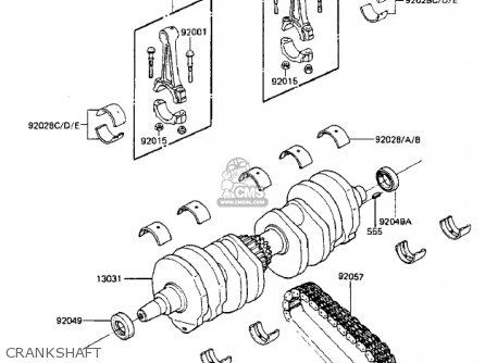 Kawasaki Zx750-a3 Gpz750 1985 Usa California Canada Crankshaft