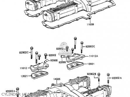 Kawasaki Zx750-a3 Gpz750 1985 Usa California Canada Cylinder Head Cover