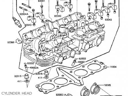 Kawasaki Zx750-a3 Gpz750 1985 Usa California Canada Cylinder Head
