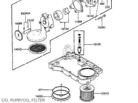 Kawasaki Zx750-a3 Gpz750 1985 Usa California Canada Oil Pump oil Filter