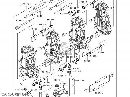 Kawasaki Zx750-k1 Zxr750r 1991 Europe Uk Fr Ar Fg It Nr Sp Carburetor