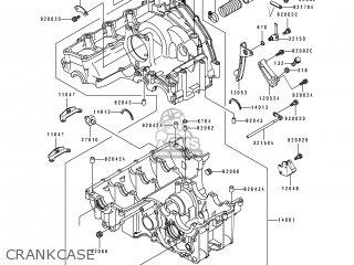 Kawasaki Zx750-k1 Zxr750r 1991 Europe Uk Fr Ar Fg It Nr Sp Crankcase