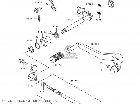 Kawasaki Zx750-k1 Zxr750r 1991 Europe Uk Fr Ar Fg It Nr Sp Gear Change Mechanism