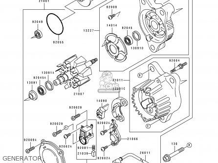 Kawasaki Zx750-k1 Zxr750r 1991 Europe Uk Fr Ar Fg It Nr Sp Generator