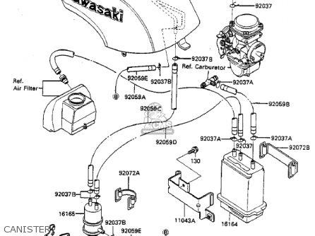Kawasaki Zx750a2 Gpz750 1984 Usa California Canada Canister