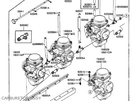 Kawasaki Zx750a2 Gpz750 1984 Usa California Canada Carburetor Assy