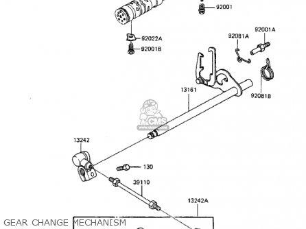 Kawasaki Zx750a2 Gpz750 1984 Usa California Canada Gear Change Mechanism