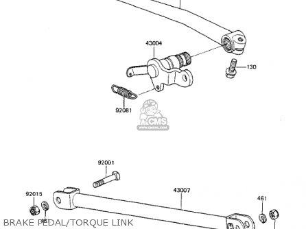 Kawasaki Zx750a3 Gpz750 1985 Usa California Canada Brake Pedal torque Link