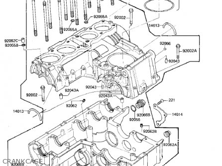 kawasaki zx750e1 gpz750 turbo 1984 usa california canada crankcase