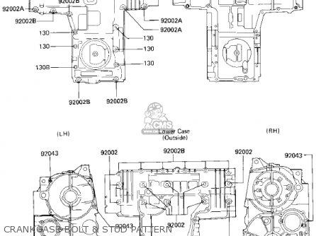 Kawasaki Zx750e2 Gpz750 Turbo 1985 Usa California Canada Crankcase Bolt  Stud Pattern