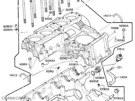 Kawasaki Zx750e2 Gpz750 Turbo 1985 Usa California Canada Crankcase