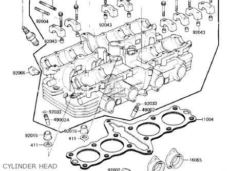 Kawasaki Zx750e2 Gpz750 Turbo 1985 Usa California Canada Cylinder Head