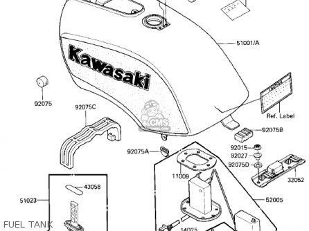Kawasaki Zx750e2 Gpz750 Turbo 1985 Usa California Canada Fuel Tank