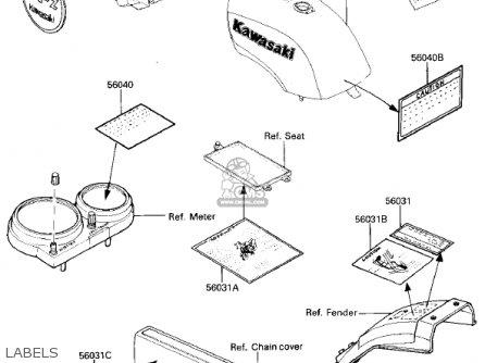 Kawasaki Zx750e2 Gpz750 Turbo 1985 Usa California Canada Labels
