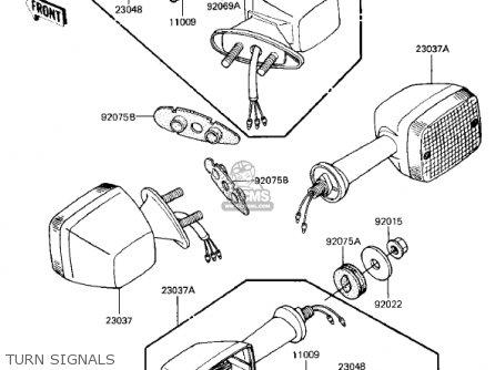 Kawasaki Zx750e2 Gpz750 Turbo 1985 Usa California Canada Turn Signals