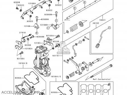 Kawasaki Zx750k1 Zxr750r 1991 Europe Uk Fr Ar Fg It Nr Sp Accelerator Pump