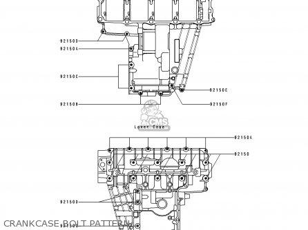Kawasaki Zx750k1 Zxr750r 1991 Europe Uk Fr Ar Fg It Nr Sp Crankcase Bolt Pattern