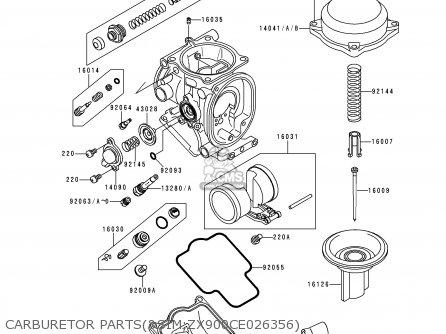 Kawasaki Zx900d1 Ninja Zx9r 1998 Fg St Carburetor Partssim zx900ce026356