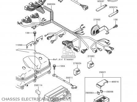 Kawasaki Zx900d1 Ninja Zx9r 1998 Fg St Chassis Electrical Equipment