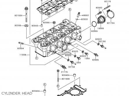 Kawasaki Zx900d1 Ninja Zx9r 1998 Fg St Cylinder Head