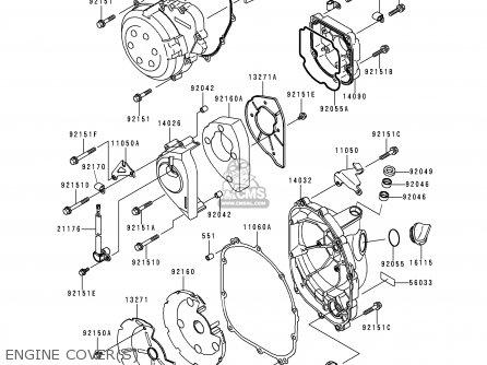 Kawasaki Zx900d1 Ninja Zx9r 1998 Fg St Engine Covers
