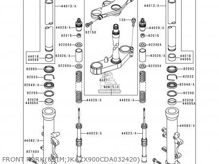 Kawasaki Zx900d1 Ninja Zx9r 1998 Fg St Front Forksim jkazx900cda032420