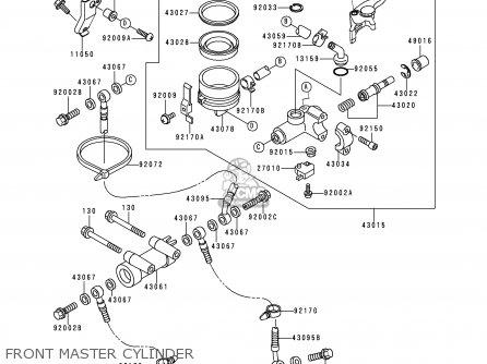 Kawasaki Zx900d1 Ninja Zx9r 1998 Fg St Front Master Cylinder