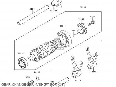 Kawasaki Zx900d1 Ninja Zx9r 1998 Fg St Gear Change Drum shift Forks