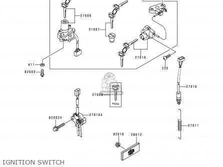 Kawasaki Zx900d1 Ninja Zx9r 1998 Fg St Ignition Switch
