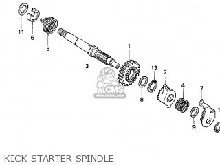 (28211397010) PINION,KICK START