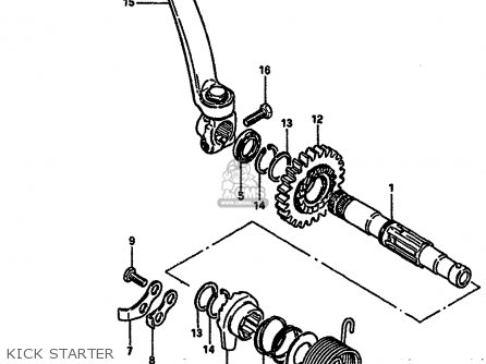 kick starter_mediumsue0030fig 16_6920 1974 ford f 250 wiring harness diagram 1974 find image about,1974 Honda Mt250 Wiring Diagram