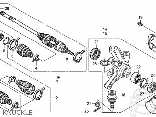 KNUCKLE ASSY,R