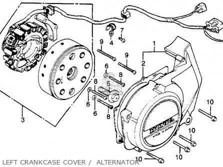 COVER,L.CRANKCASE for CB400T HAWK 1980 (A) USA - order at CMSNL