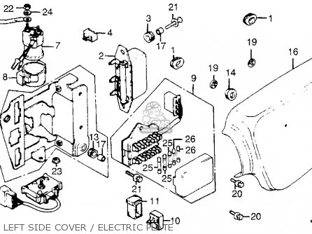 Left Side Cover Electric Plate Schematic Honda Cb500k3 Four European