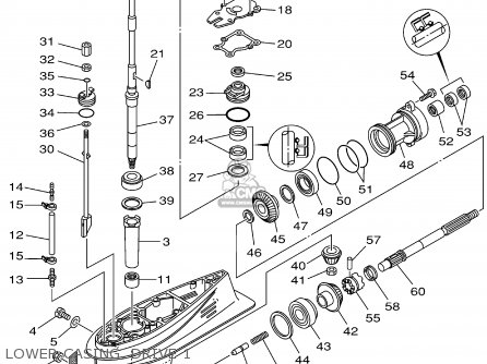 редуктор лодочного мотора ямаха 40 разборка