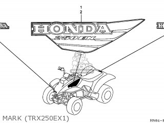 (87127HM3A00ZA) MARK,HONDA*TYPE3*