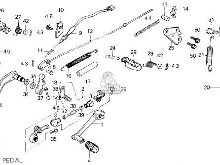 pedal comp nh 1 fits tlr200 reflex 1986 g usa california rh cmsnl com Honda TL125 TLR200 Parts