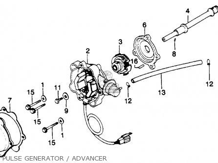 advancer assy a for gl1100 goldwing 1980 (a) usa order at cmsnl schematic diagram honda 2016 tw advancer assy a photo