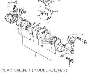 Caliper Assembly, Rear photo