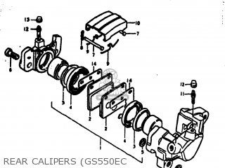 Caliper Assembly, Rear photo