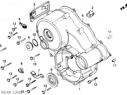 GASKET,REAR CASE