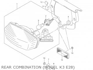 Bracket, Rr Combination Lamp photo