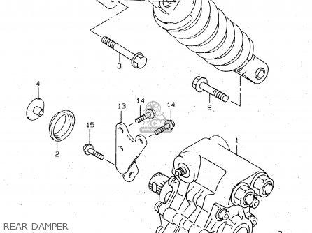 Damper Assembly, Rear photo