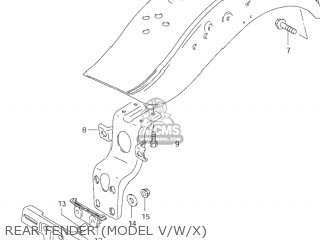 Fender Assembly, Rear photo